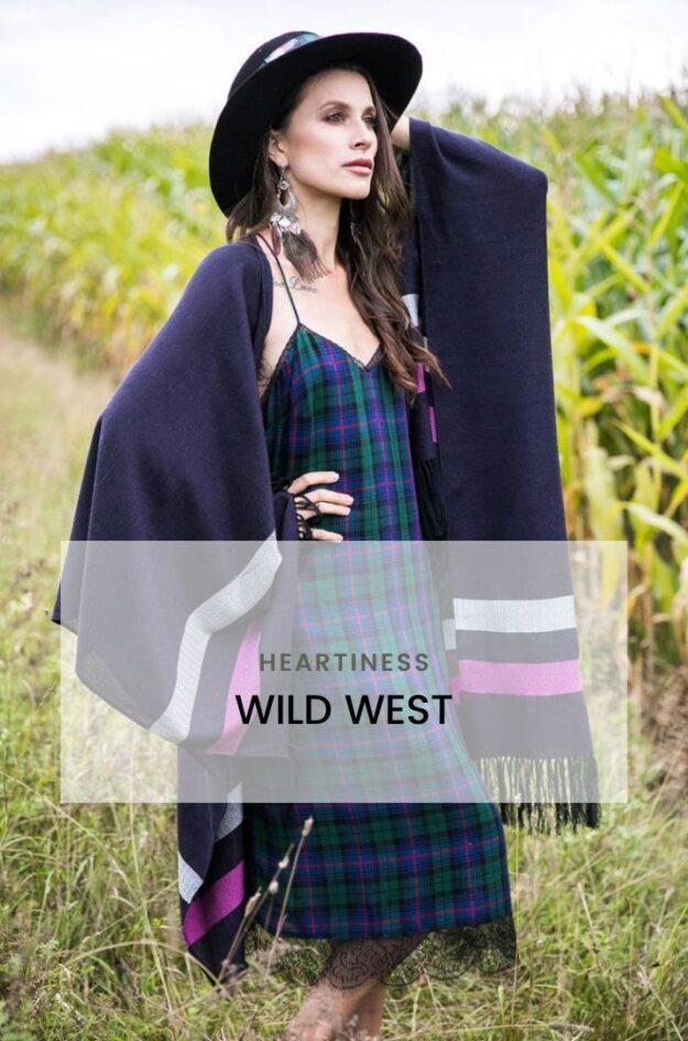 Wild West новая коллекция пончо Heartiness